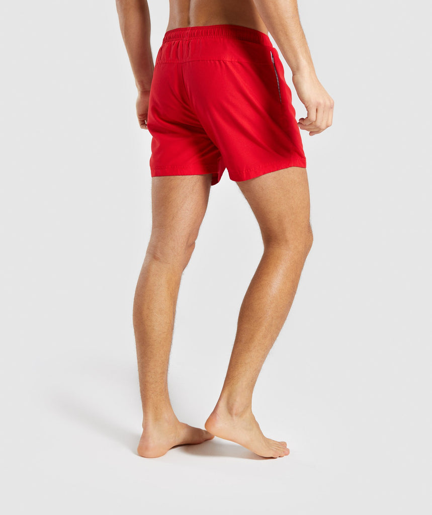 Gymshark Atlantic Swim Shorts - Red 2