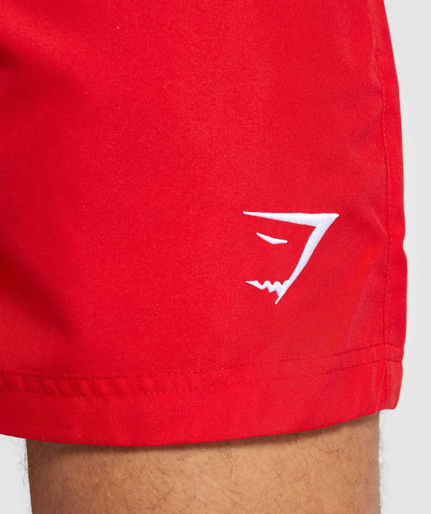 Gymshark Atlantic Swim Shorts - Red 5