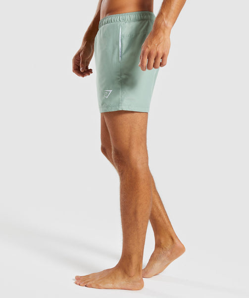 Gymshark Atlantic Swimshorts - Pale Green 2