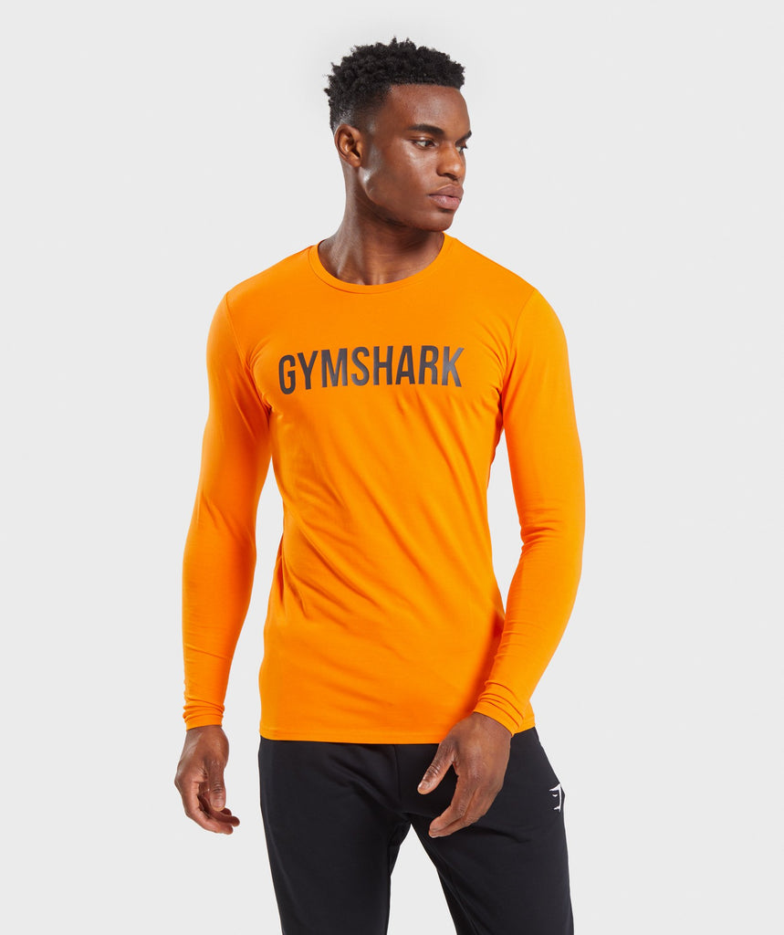 Gymshark Base Long Sleeve T-Shirt - Orange 1