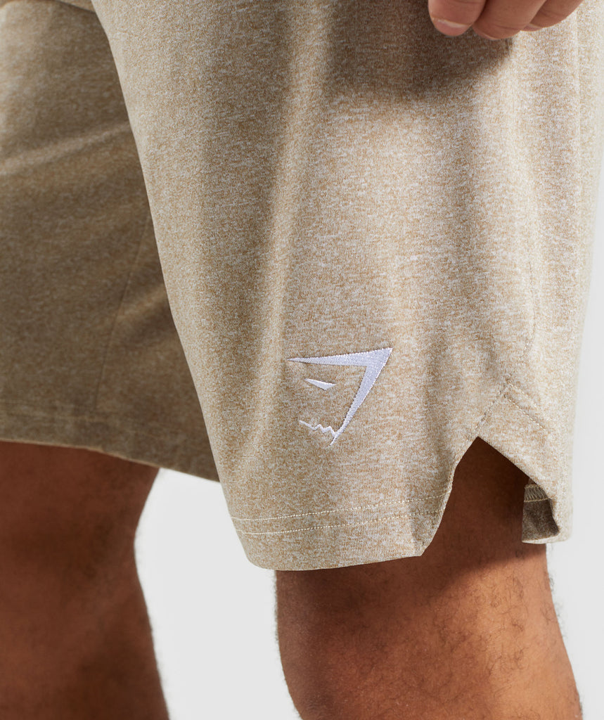 Gymshark Basic Training Shorts - Driftwood Brown Marl 6
