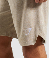 Gymshark Basic Training Shorts - Driftwood Brown Marl 12