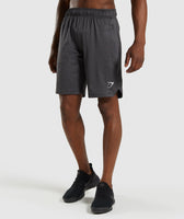 Gymshark Basic Training Shorts - Black Marl 7
