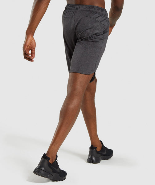 Gymshark Basic Training Shorts - Black Marl 1