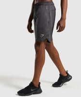 Gymshark Basic Training Shorts - Black Marl 9