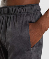 Gymshark Basic Training Shorts - Black Marl 11