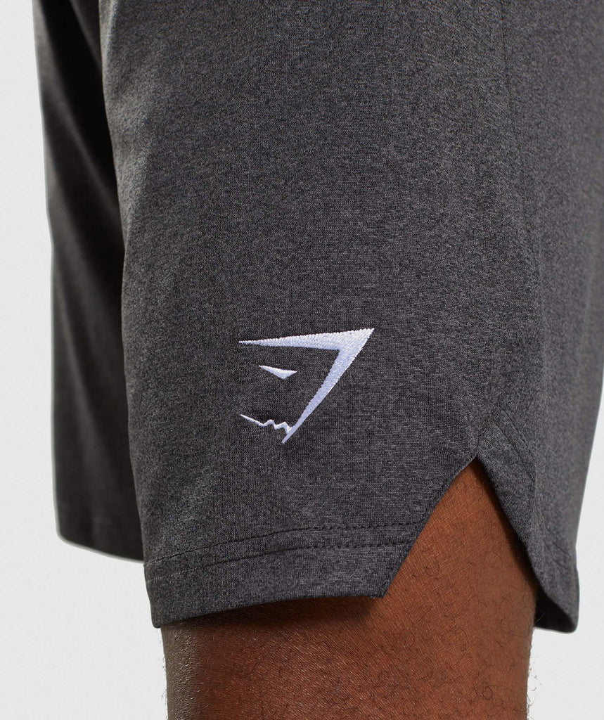 Gymshark Basic Training Shorts - Black Marl 6