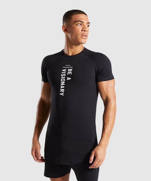 Gymshark Be a Visionary T-Shirt - Black 4