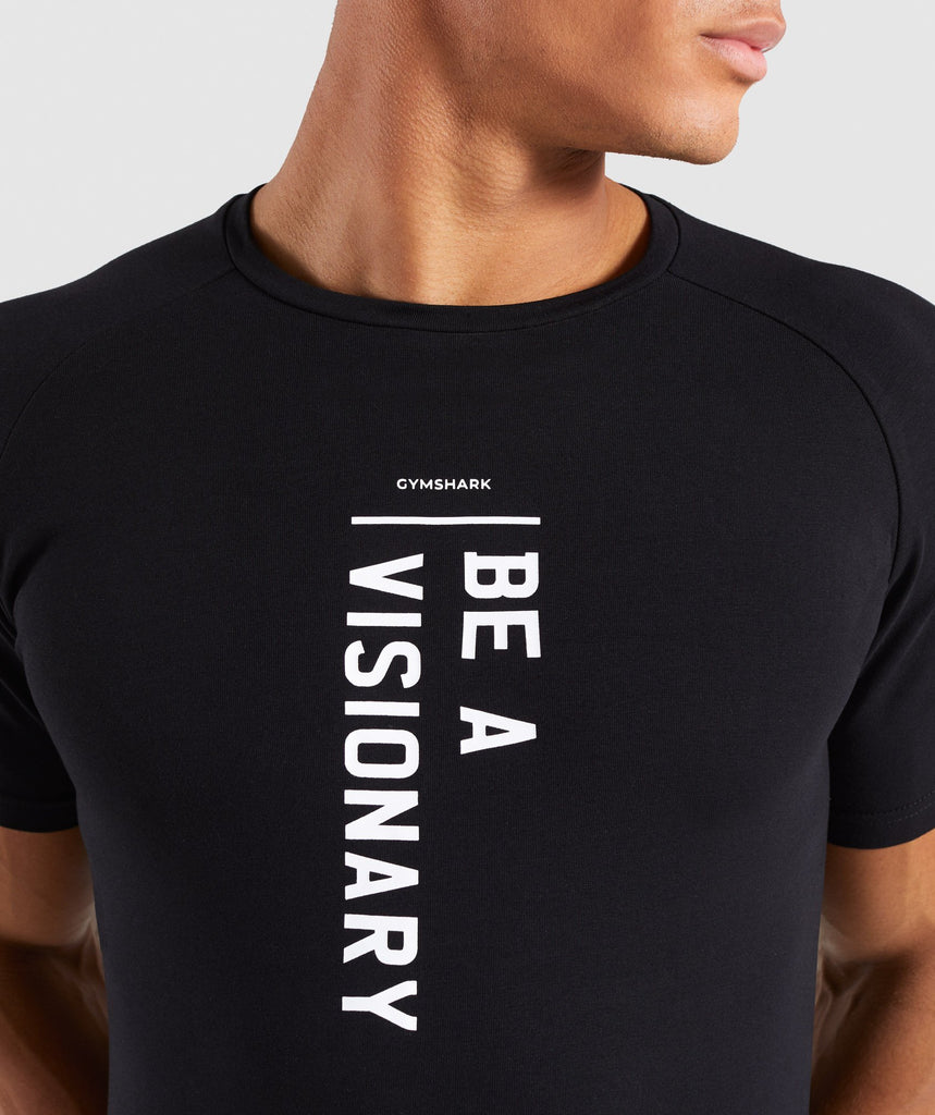 Gymshark Be a Visionary T-Shirt - Black 5