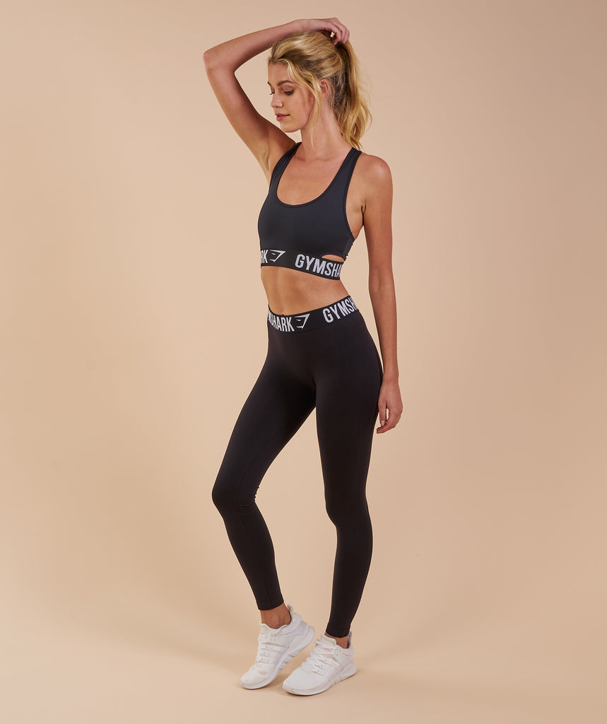 Gymshark Fit Sports Bra - Black/White