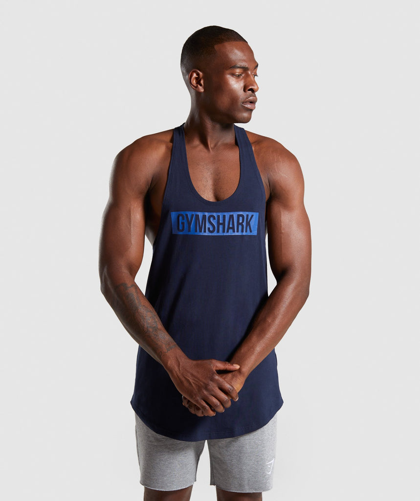 Gymshark Block Stringer - Dark Blue 1