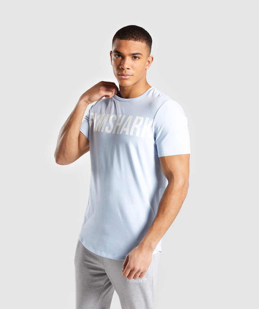 Gymshark Bold Graphic T-Shirt - Blue 1