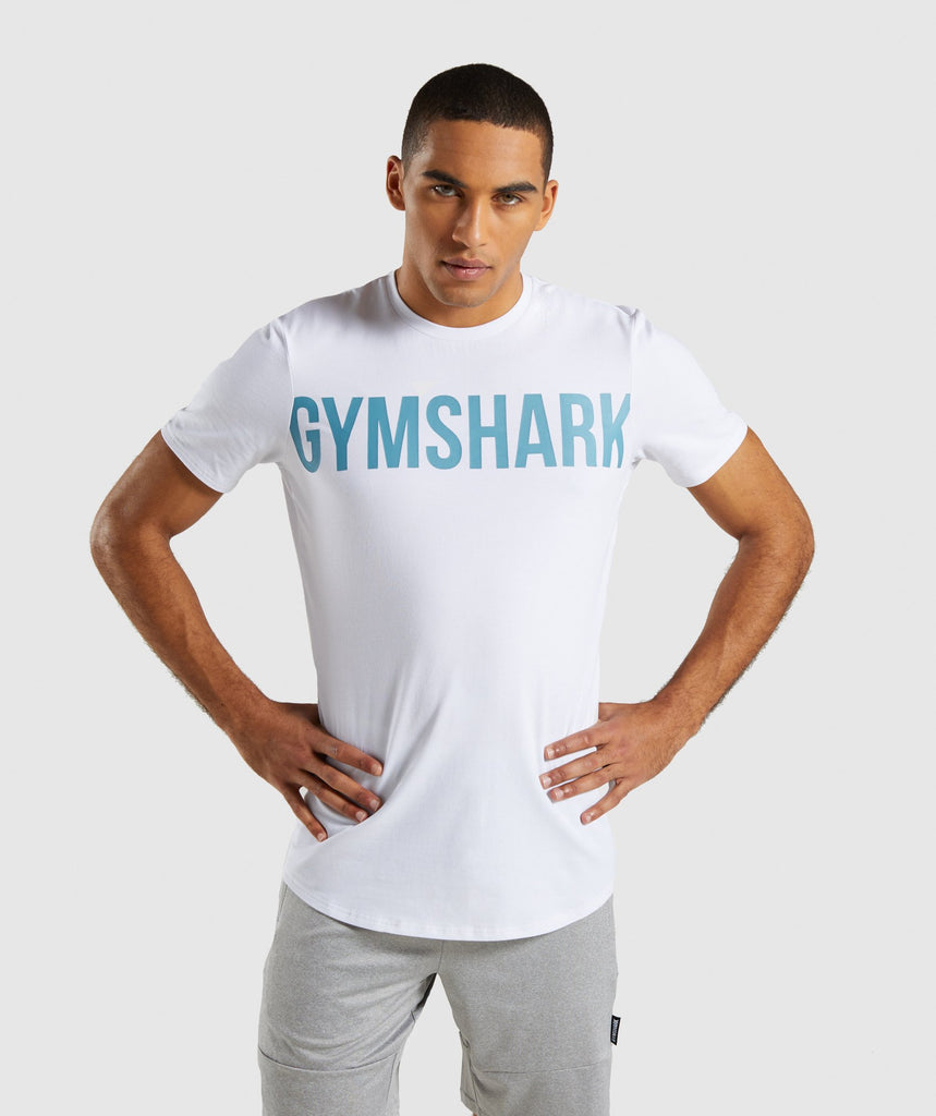 Gymshark Bold Graphic T-Shirt - White 1