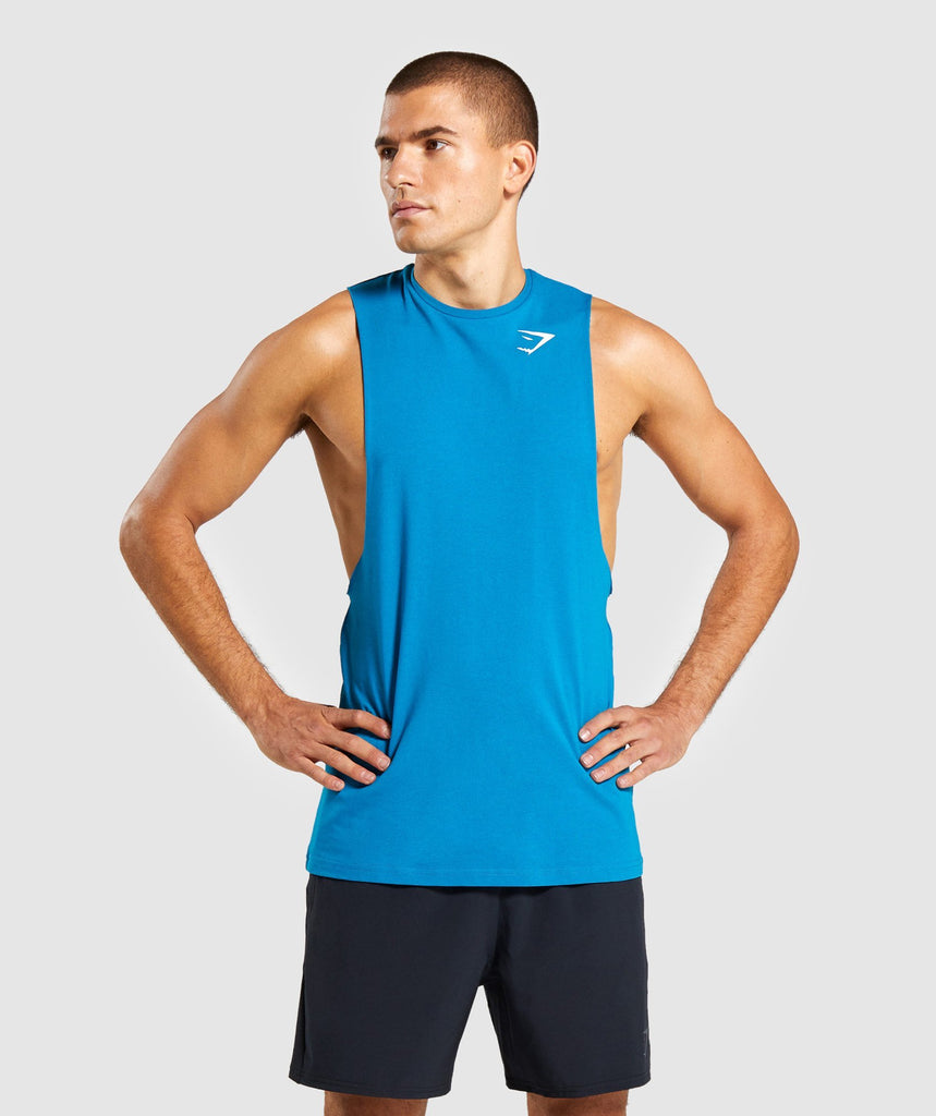 Gymshark Critical Drop Armhole Tank - Light Blue 1