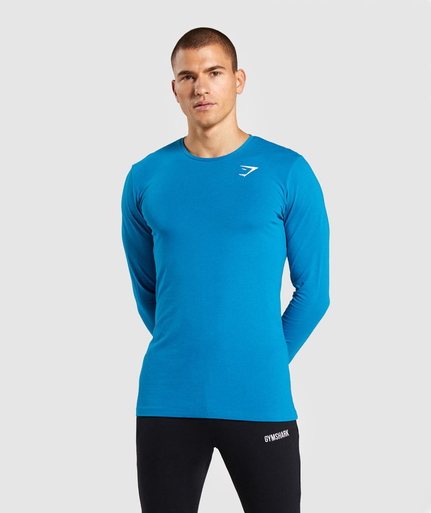 Gymshark Critical Long Sleeve T-Shirt - Light Blue 1