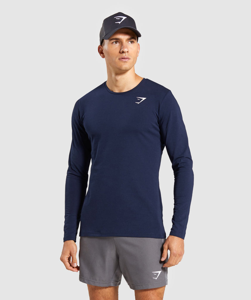 Gymshark Critical Long Sleeve T-Shirt - Dark Blue 1