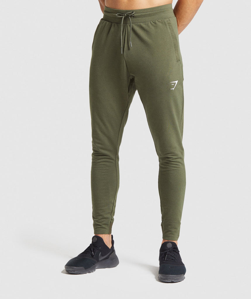 Gymshark Critical Zip Joggers - Dark Green 1