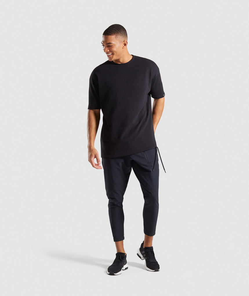 Gymshark Cargo Tech Bottoms - Black 6