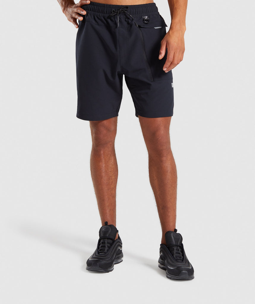 Gymshark Cargo Tech Shorts- Black 1