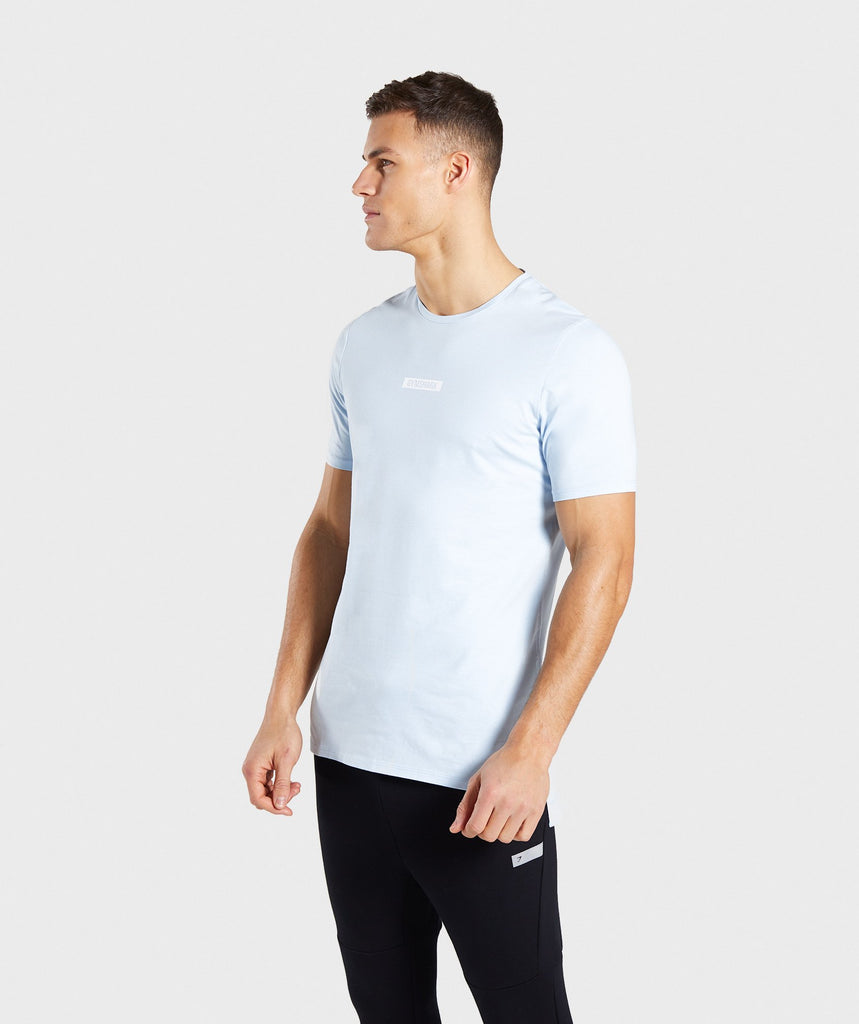 Gymshark Central T-Shirt - Light Blue 4