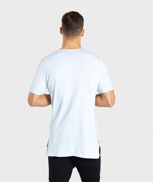 Gymshark Central T-Shirt - Light Blue 1