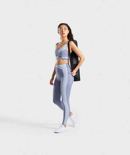 Gymshark Colour Block Leggings - Steel Blue Tones 2