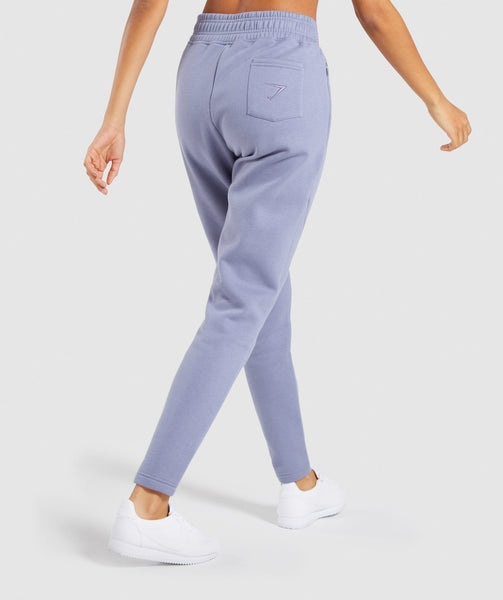 Gymshark Comfy Tracksuit Bottoms - Steel Blue 1