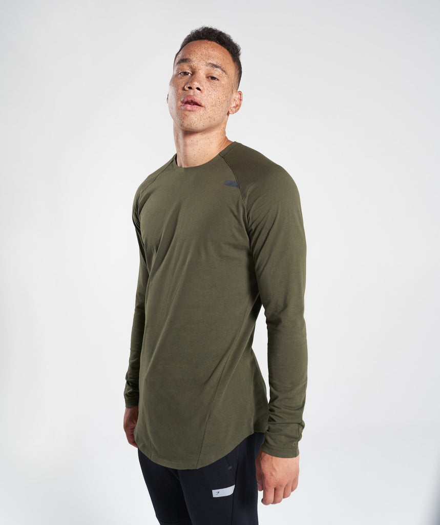 Gymshark Construction Long Sleeve T-Shirt - Alpine Green 1