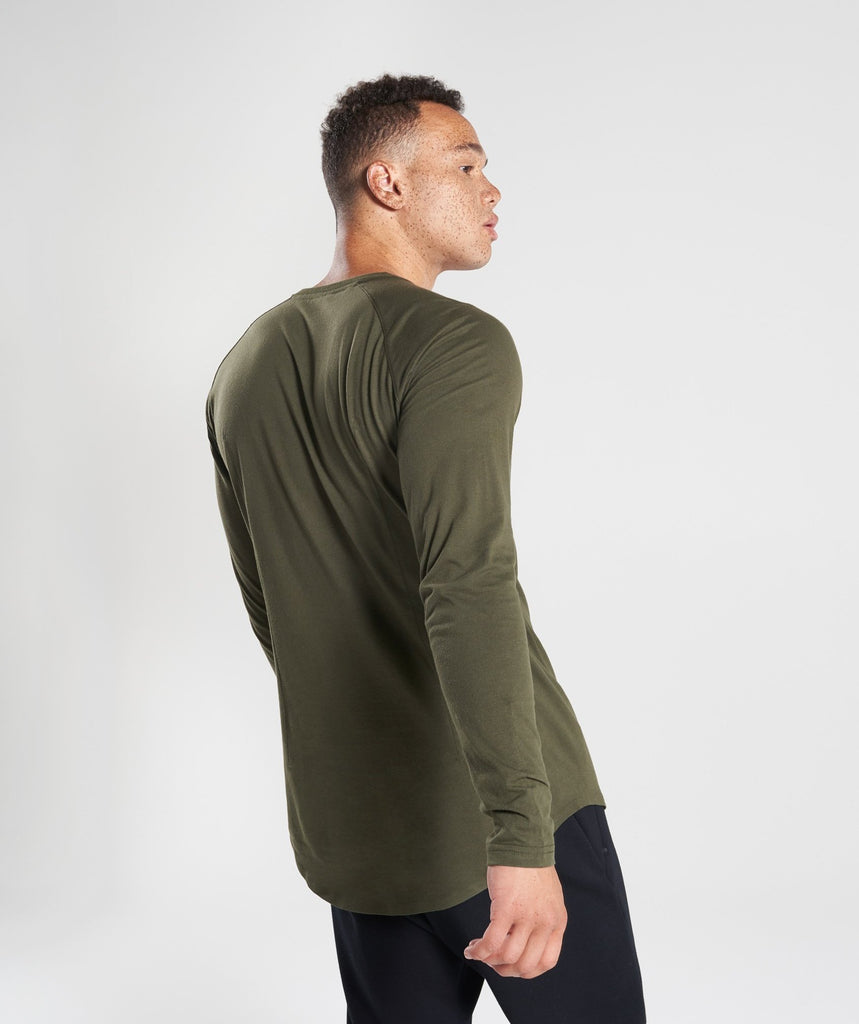 Gymshark Construction Long Sleeve T-Shirt - Alpine Green 2