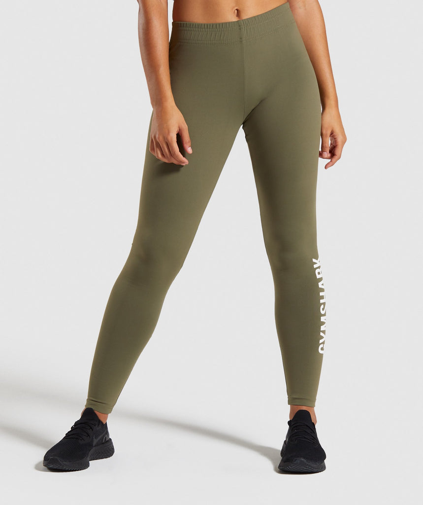 Gymshark Core Leggings - Khaki 1