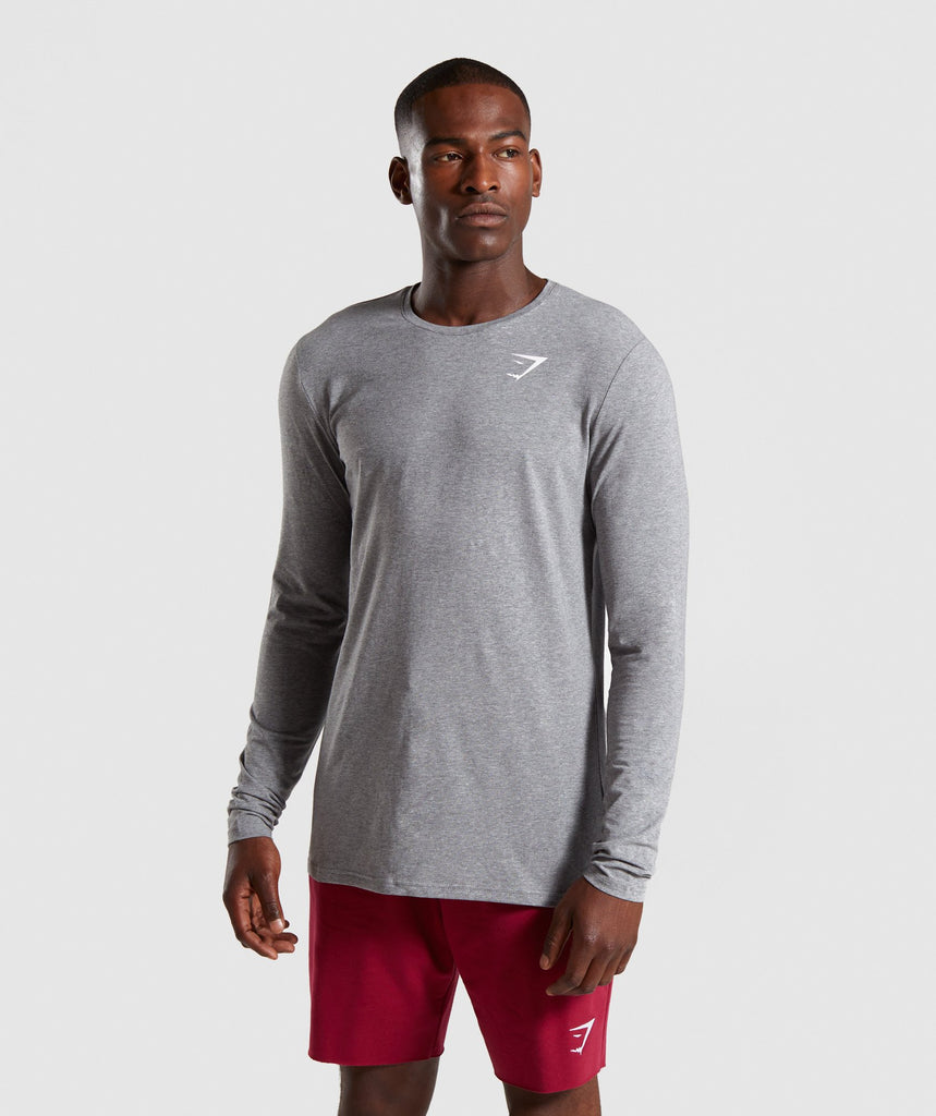 Gymshark Critical Long Sleeve T-Shirt - Grey Marl 1