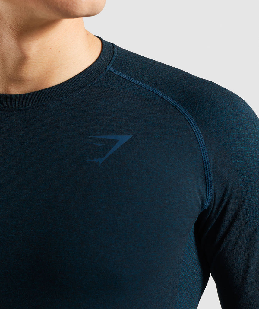 Gymshark Define Seamless Long Sleeve T-Shirt - Blue 6