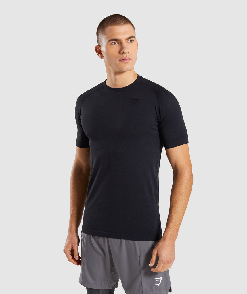 Gymshark Define Seamless T-Shirt - Black Marl 1