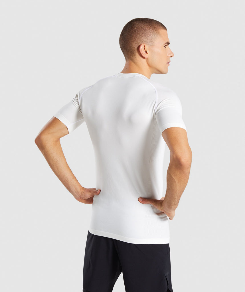 Gymshark Define Seamless T-Shirt - White 2