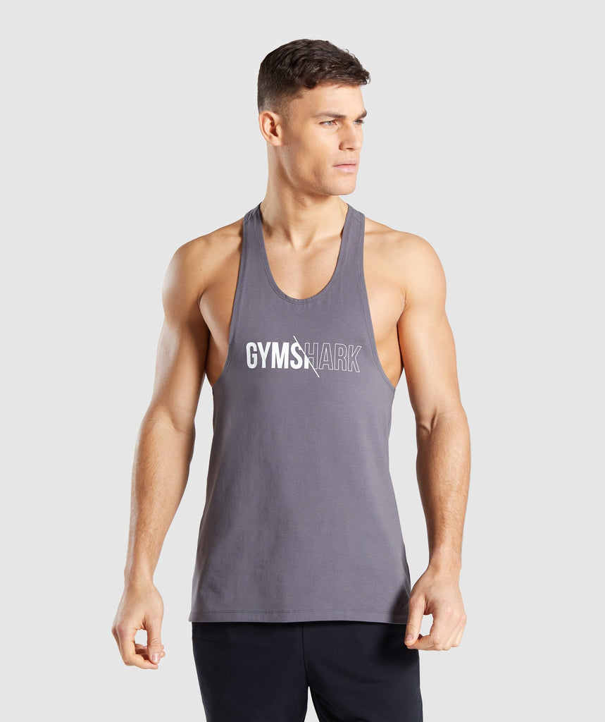 Gymshark Distort Stringer - Smokey Grey 1