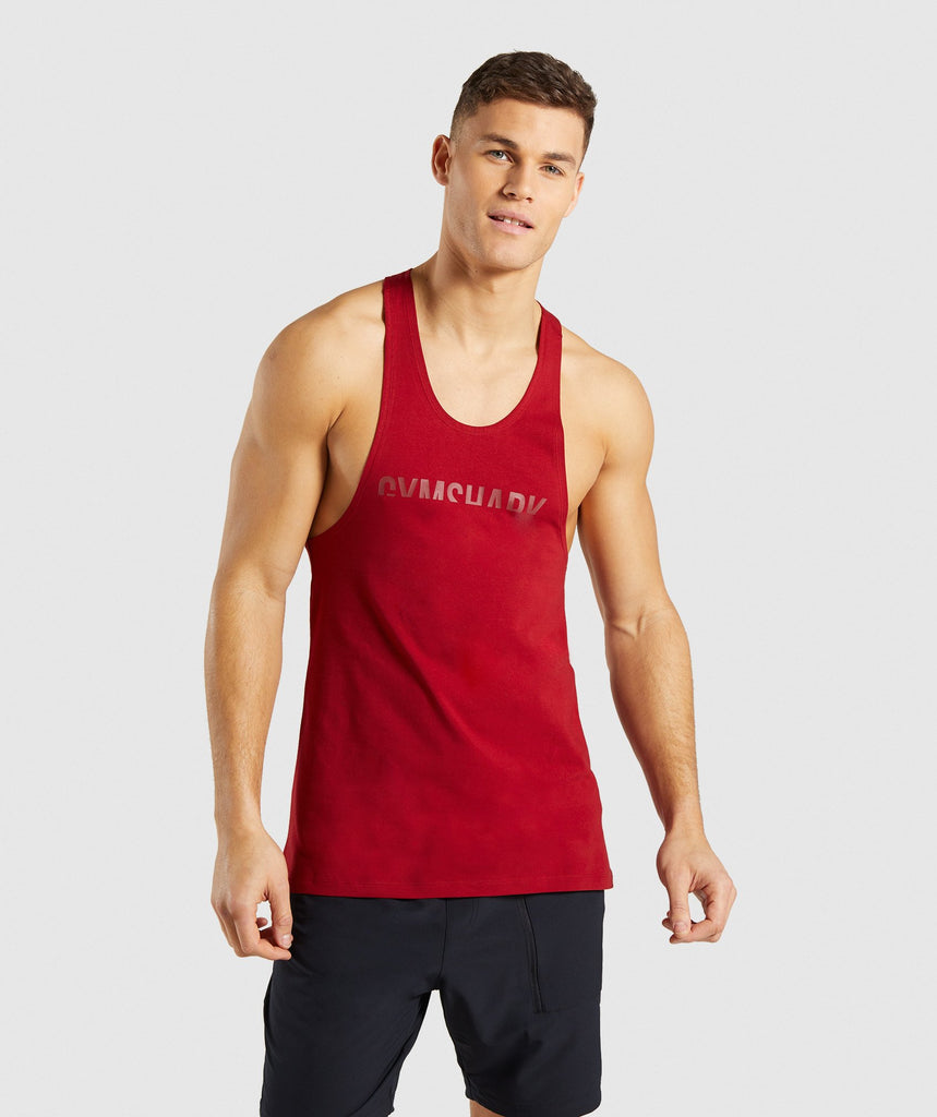 Gymshark Divide Stringer - Full Red 4