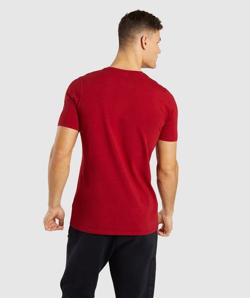 Gymshark Divide T-Shirt - Full Red 1
