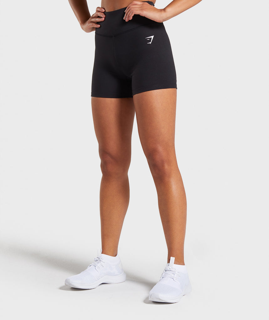 Gymshark Dreamy High Waisted Shorts  - Black 1