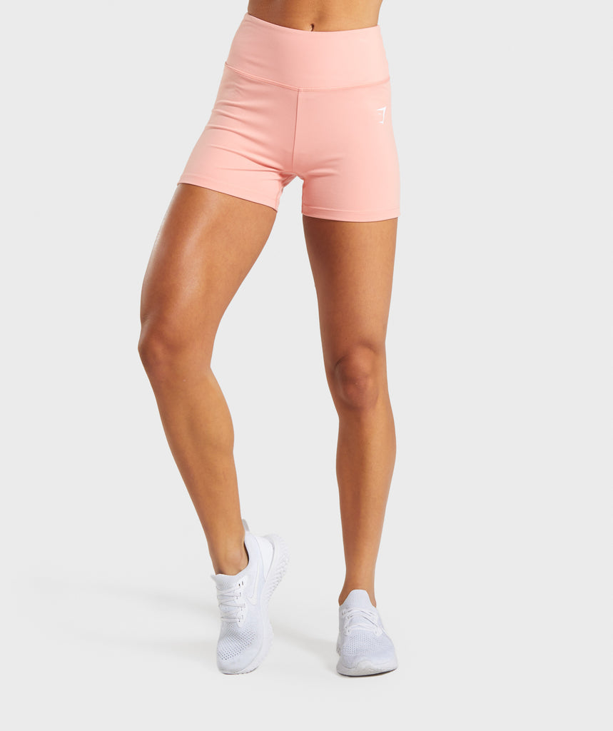Gymshark Dreamy High Waisted Shorts - Peach 1