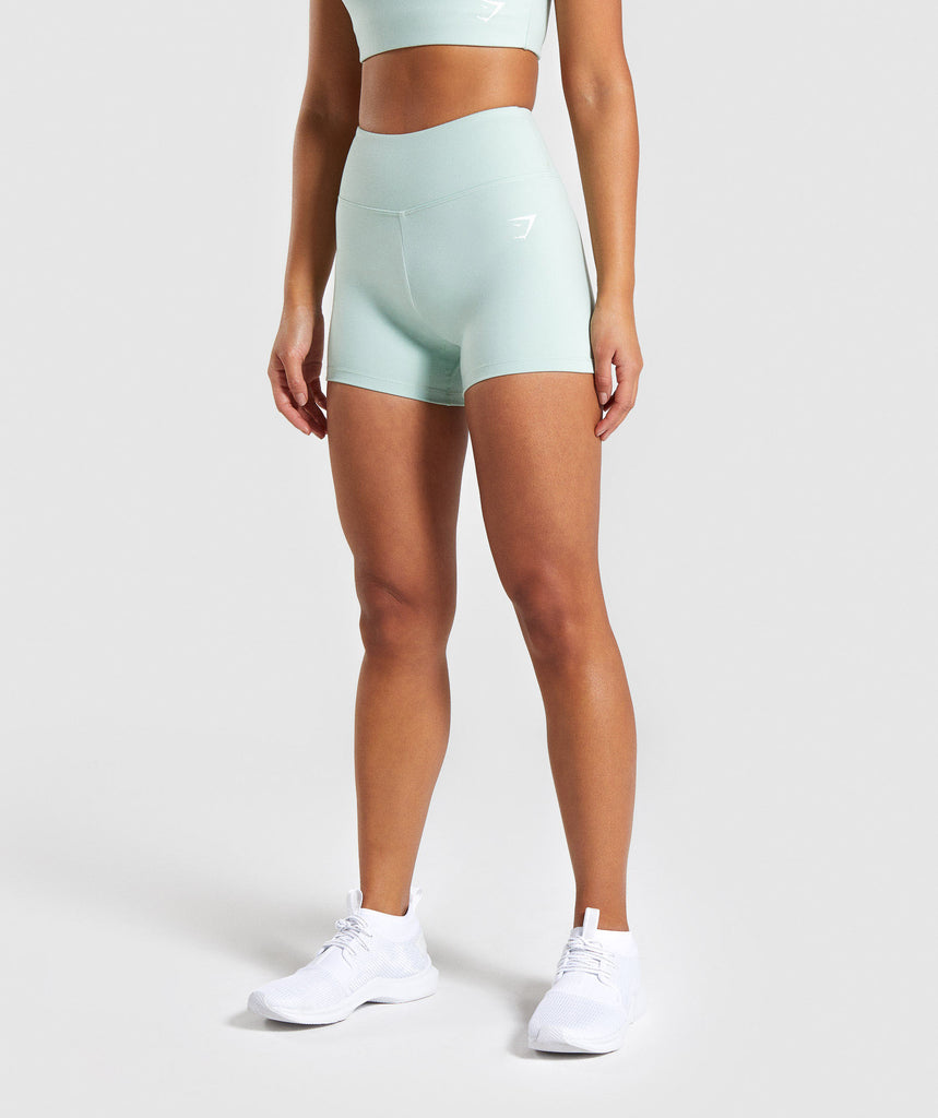 Gymshark Dreamy High Waisted Shorts - Light Green 1