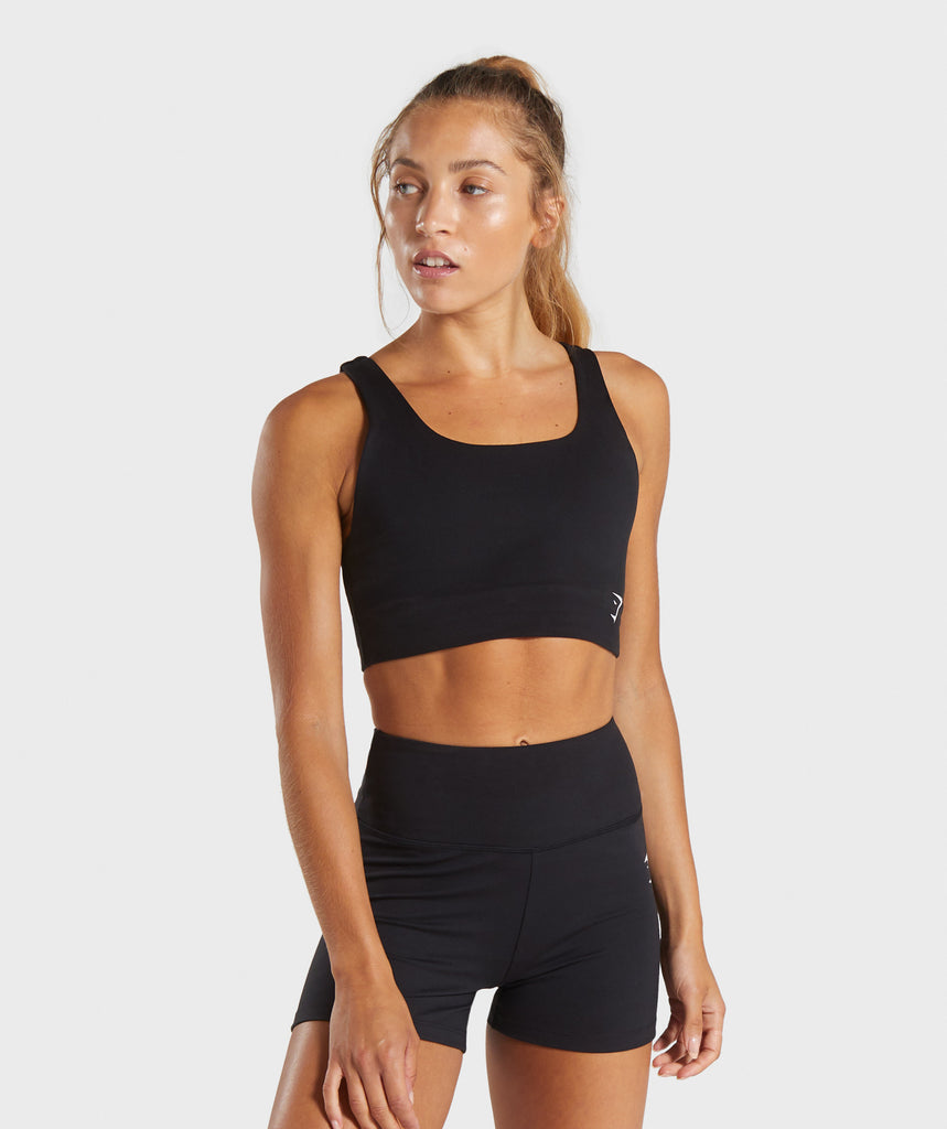 Gymshark Dreamy Sports Bra - Black 1