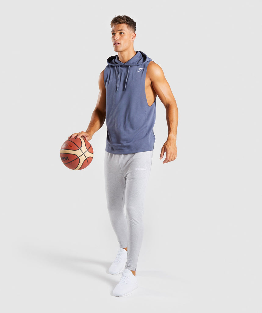 Gymshark Drop Arm Sleeveless Hoodie - Aegean Blue 5