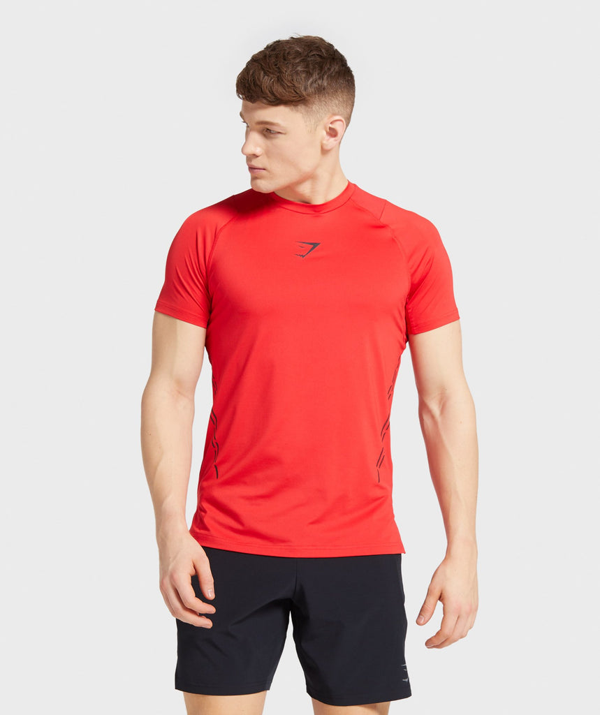 Gymshark Element Hiit T-Shirt - Red 1