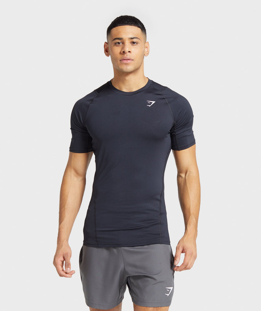 Gymshark Element Baselayer T-Shirt - Black 1