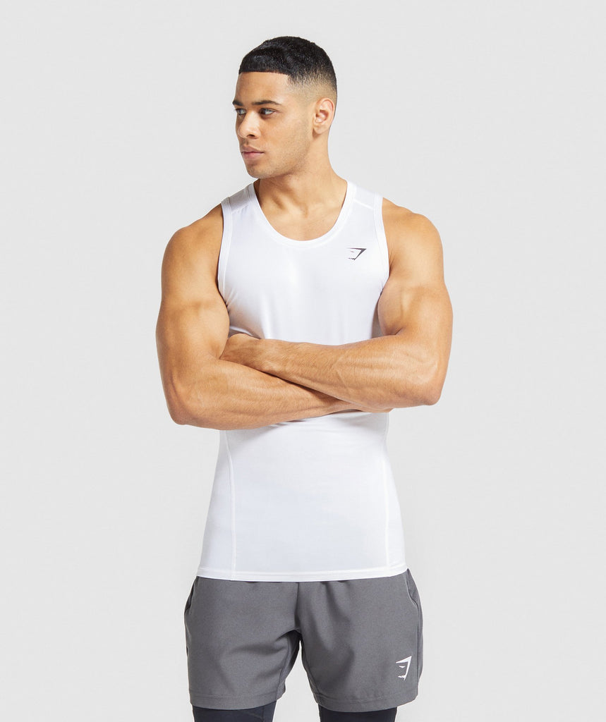 Gymshark Element Baselayer Tank - White 1
