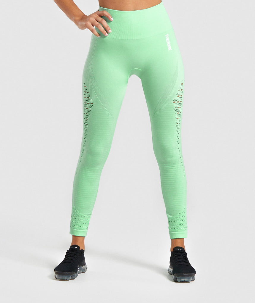 Gymshark Energy+ Seamless Leggings - Mint 1