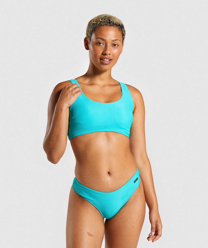 Gymshark Essence Bikini Top - Sea Blue 1