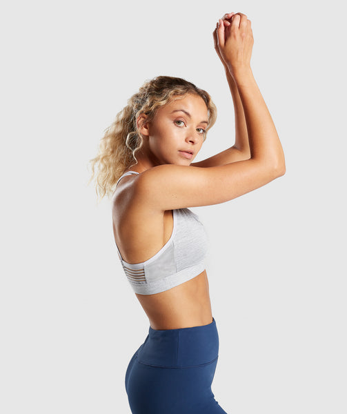 Gymshark Ease Sports Bra - Light Grey 2