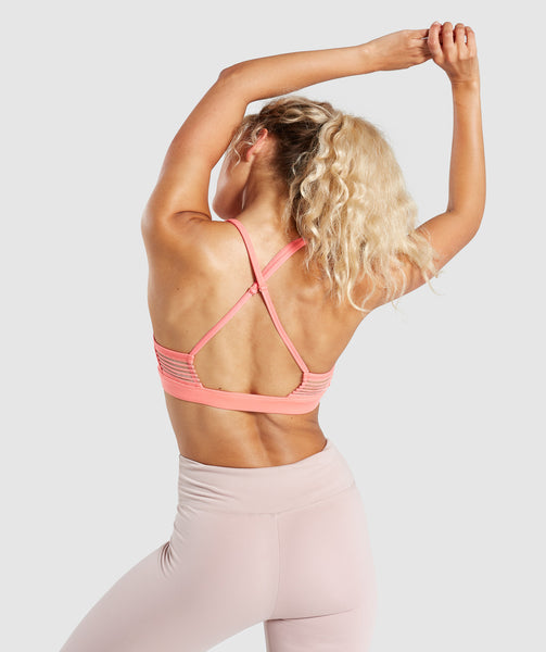 Gymshark Ease Sports Bra - Peach Coral 1