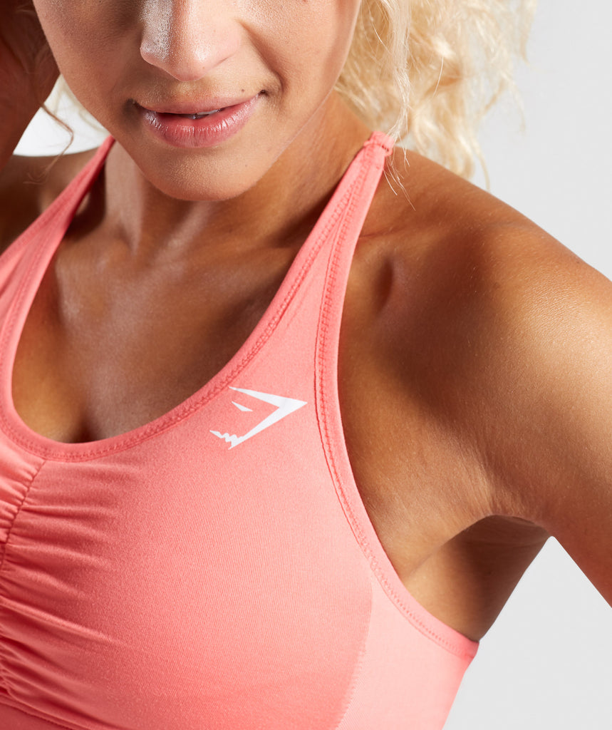 Gymshark Ease Sports Bra - Peach Coral 5